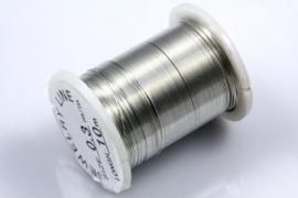Wire 0,3mm Zilverkleur, per klosje van 10 meter