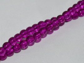 Tsjechisch/Czech rond 4mm Crystal Dark Purple, per 100 stuks