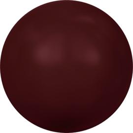 Swarovski #5810 Round Pearl 4mm Bordeaux, per 20 stuks