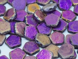 Pego Bead 10 mm Crystal Etched Sliperit Full, per 5 stuks