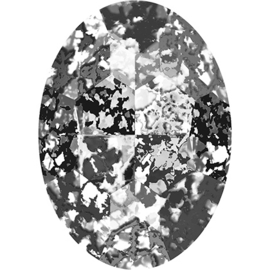 Swarovski #4127 Big Oval 30x22mm Crystal Black Patina, per stuk