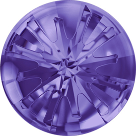 Swarovski #1695 Sea Urchin Round Stone partly frosted  10/14mm, Tanzanite, per stuk v.a.