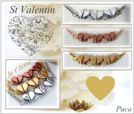 Ketting 'St Valentin' , ontwerp Puca, met o.a. Amos® par Puca®