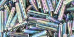 TB-03-176B Bugle #3 Transparent-Rainbow Gray, per 10 gram