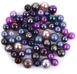 Preciosa Faux Pearl Mix Lilac, per 50 gram
