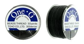 PT-50-02 TOHO One-G Thread 50 Yard Black, per rol van 45 meter