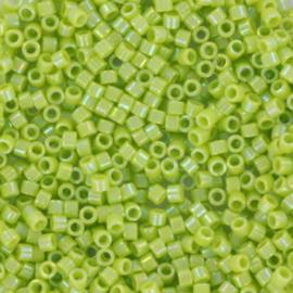 DB0169 Miyuki Delica 11/0 Opaque AB Chartreuse, per 5 gram