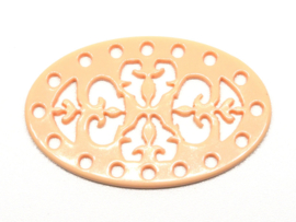 Laser Cut Element 40x25mm Rose, per stuk