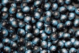 Miyuki Galaxy Bead 8 mm Blue, per stuk