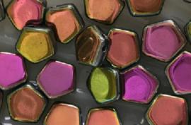 Pego Bead 10 mm Crystal Vitrail Full, per 5 stuks