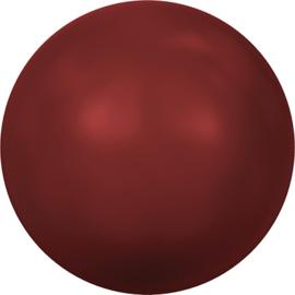 Swarovski #5810 Round Pearl 4mm Red Coral, per 20 stuks