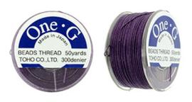 PT-50-11 TOHO One-G Thread 50 Yard Purple, per rol van 45 meter