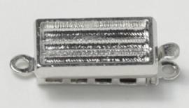 14843/01 Neumann Claspgarten 13x7mm Schuifslot met 1 oog Rhodium Plated 13x7mm, per stuk