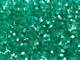 50720/28701Fire polished 4mm Emerald AB, 100, of 50 stuks, vanaf