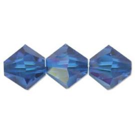 #5328 03mm Blue Capri  AB, 48 stuks €5,65, per 2 stuks €0,30