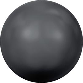 Swarovski #5810 Round Pearl 4mm Black, per 20 stuks