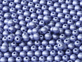 Tsjechisch/Czech rond 2mm Alabaster Metallic Violet, per 100 stuks