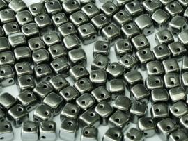 Crisscross Cubes Jet Full Chrome, per 30 stuks