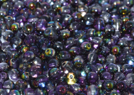 Tsjechisch/Czech rond 6mm Crystal Magic Purple, per 30 stuks