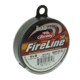 Fireline 6LB 0,15mm 45m, Smoke en Crystal
