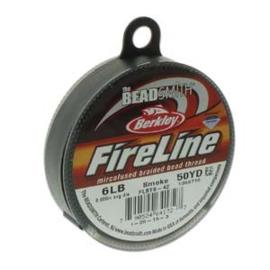 Fireline 6LB 0,15mm Smoke en Crystal, per 45m rol
