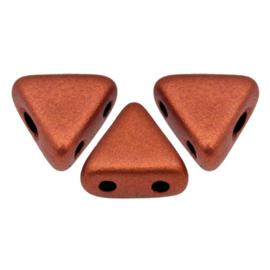 Khéops par Puca® Bronze Red Mat, per 35 stuks