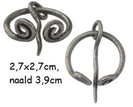 Sjaalspeld zilverkleur,  Ø 2,7x2,7cm, naald 3,9cm