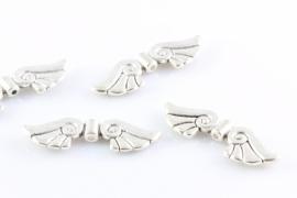 Vleugel engel zlverkleurig 45 x 15mm per 10 stuks
