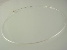 Spang Ø13,4 cm met afdraaibaar bolletje zilverkleur, per stuk