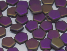 Pego Bead 10 mm Crystal Sliperit Full Matted, per 5 stuks