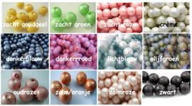 Iceparels 14mm, 12 kleuren, per 10 stuks