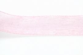 Organzalint 12mm Lichtroze, per meter