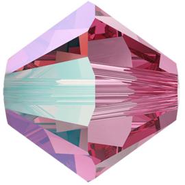#5328 4mm Rose Shimmer, per 2 stuks