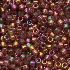 DB0103 Miyuki Delica 11/0 Gold Red Luster, per 5 gram