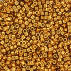 DB1833 Miyuki Delica 11/0 Duracoat Galvanized Yellow Gold, per 5 gram