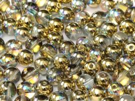 RB6-00030/98536 rond 6mm Crystal Golden Rainbow, per 30 stuks