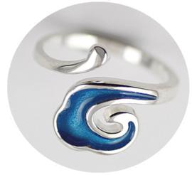Ring Blauwe Golf, verstelbaar, per stuk