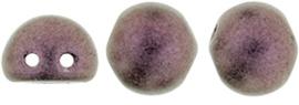 CAB07-79086MJT CzechMates Cabochon 7mm Metallic Suede Pink, per 25 stuks