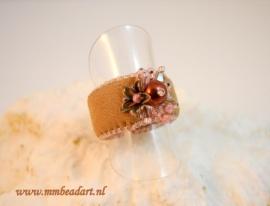 Prachtige ring gemaakt door Marlies Mast met onze cuff ring