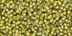 TR15-0246 TOHO 15/0  Inside Color Lined Yellow Green, per 5 gram
