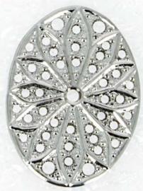 Neumann Claspgarten Filigraan Ovaal 29x19 mm Rhodium Plated, per stuk