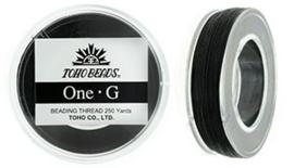 PT-250-02 TOHO One-G Thread  Black, per spoel van 229m