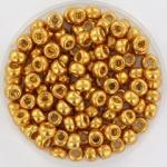 6-4203Miyuki Rocailles 6/0 Duracoat Galvanized Yellow Gold, per 10 gram