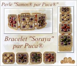Armband 'Soraya', ontwerp Puca, met o.a. Samos® en Minos®
