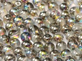 RB6-00030/98537 rond 6mm Crystal Graphite Rainbow, per 30 stuks