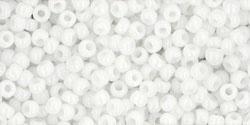 TR-11-0041 TOHO 11/0 Opaque White, per 10 gram