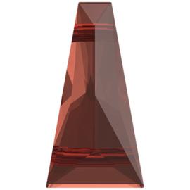 Swarovski @5181 Keystone Bead 2 holes 13x7mm Red Magma, per stuk