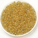 11-0002 Miyuki Rocailles 11/0 Silverlined Light Gold, per 10 gram