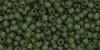 TR11-0940F TOHO 11/0 Transparent-Frosted Olivine, per 10 gram