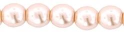 Tjechische Glasparel 4mm pearl pink roze 12173 per 100 stuks